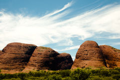 Olgas - Noordelijk Grondgebied - Australië stock afbeelding