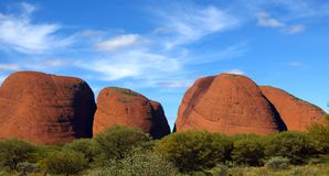The Olgas, Northern Territory, Australia. Panorama of the Olgas, Kata Tjuta, Northern Territory, Australia Royalty Free Stock Images