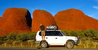 The Olgas, Northern Territory, Australia. Panorama of the Olgas, Kata Tjuta, Northern Territory, Australia stock photos