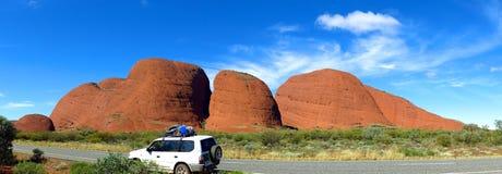 The Olgas, Northern Territory, Australia. Panorama of the Olgas, Kata Tjuta, Northern Territory, Australia royalty free stock photos