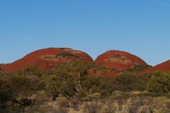 The Olgas in the red centre Royalty Free Stock Images