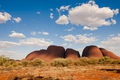 Olgasen - Kataen Tjuta - Australien Arkivfoton