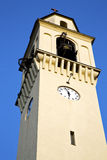 Olgiate olona old abstract in  italy   the  ntower bell sunny da Stock Photo