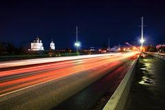Olginsky bro Pskov Arkivfoto