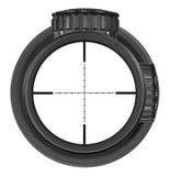 Olhando com o espaço novo do rifle com retículo do Mil.-ponto, três trajetos de grampeamento Imagens de Stock Royalty Free