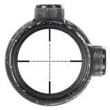 Olhando com o espaço usado do rifle com retículo do Mil.-ponto, três trajetos de grampeamento Imagens de Stock