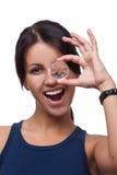 Olhando completo um diamante Fotografia de Stock