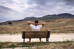 Olhando Hierapolis imagens de stock