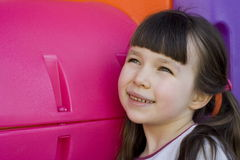 Olhando a menina dentro ao futuro Fotos de Stock Royalty Free