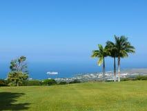 Olhando o navio de cruzeiros em Kona Fotografia de Stock Royalty Free