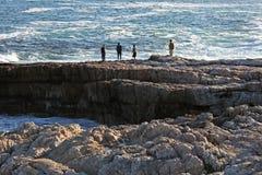 Olhando o oceano fotografia de stock royalty free