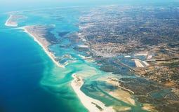 Olhao, Algarve, Portugal. Aerial view of Olhao, Algarve, Portugal stock photos