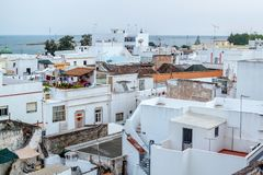 Olhao An ancient fishing town with original architecture. Royalty Free Stock Photography