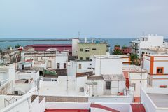 Olhao eine alte Fischenstadt von Kubismus portugal Stockfotos