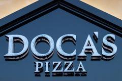Doca's Pizza restaurant logo Stock Photo