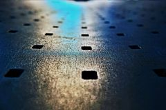 Olhar abstrato do banco do metal Fotografia de Stock Royalty Free