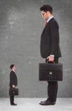 Olhar acima ao homem eu quero ser quando eu cresço acima Fotografia de Stock