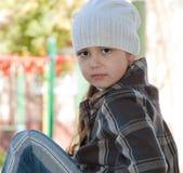 Olhar bonito da criança Fotos de Stock Royalty Free