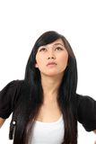 Olhar bonito da mulher no espaço da cópia Imagem de Stock