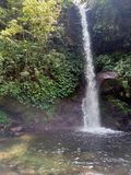 olhar da cachoeira da beleza na floresta em East Java foto de stock royalty free
