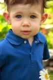 Olhar da criança do menino Fotografia de Stock