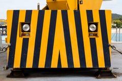 Olhar da máquina da construção como o olho e a cara Imagens de Stock Royalty Free