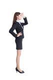 Olhar da mulher de negócio Imagens de Stock