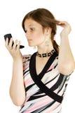 Olhar da rapariga dentro ao espelho Imagem de Stock Royalty Free