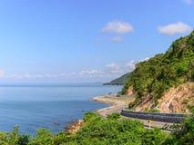 Olhar de Chalerm Burapha Chonlathit Highway do ponto de opinião de Noen Nangphaya Imagens de Stock Royalty Free