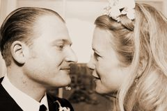 Olhar de dois amantes Foto de Stock