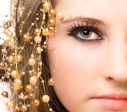 Olhar de Glamor Fotografia de Stock