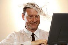 Olhar do homem de negócio Imagens de Stock