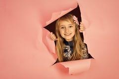 Olhar do modelo e da beleza de forma Cabeleireiro e estilo ocasional ou sarja de Nimes Beleza, forma da criança, cosméticos, cabe imagens de stock