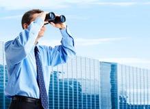 Olhar do negócio Fotografia de Stock