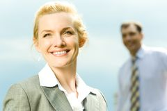 Olhar feliz Imagens de Stock Royalty Free