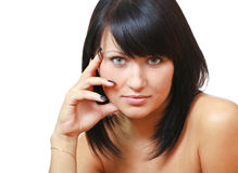 Olhar fixo 'sexy' imagens de stock