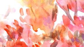 Olhar impetuoso alaranjado do ponto da aquarela como as folhas de outono ilustração do vetor