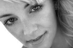 Olhar intenso de uma mulher Imagem de Stock