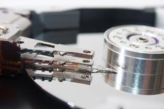 Olhar mais atento no disco rígido aberto velho Imagem de Stock Royalty Free