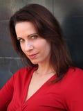 Olhar penetrante da mulher Fotografia de Stock Royalty Free