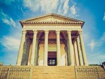 Olhar retro Gran Madre, Turin foto de stock royalty free