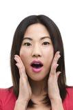 Olhar surpreendido em sua cara Imagens de Stock Royalty Free