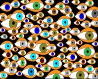 Olhar Varicoloured do olho no mundo-metaphore Imagens de Stock