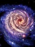 Olhe às galáxias center ilustração royalty free