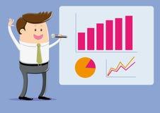 Olhe como melhorado nossas vendas seja! ilustração do vetor