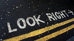 Olhe direito em Londres imagem de stock royalty free