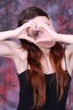 Olhe meu coração Imagens de Stock