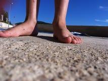 Olhe meus dedos do pé Foto de Stock