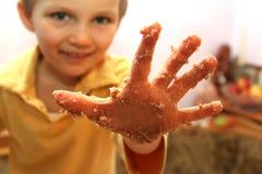 Olhe minha mão Foto de Stock Royalty Free