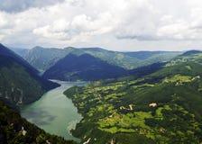 Olhe no rio Drina Fotos de Stock Royalty Free